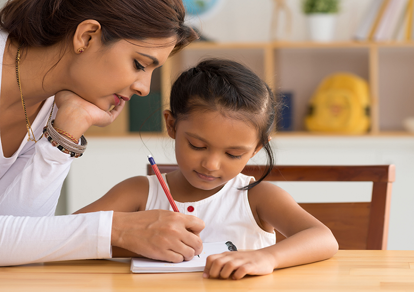 childs reading and writing skills